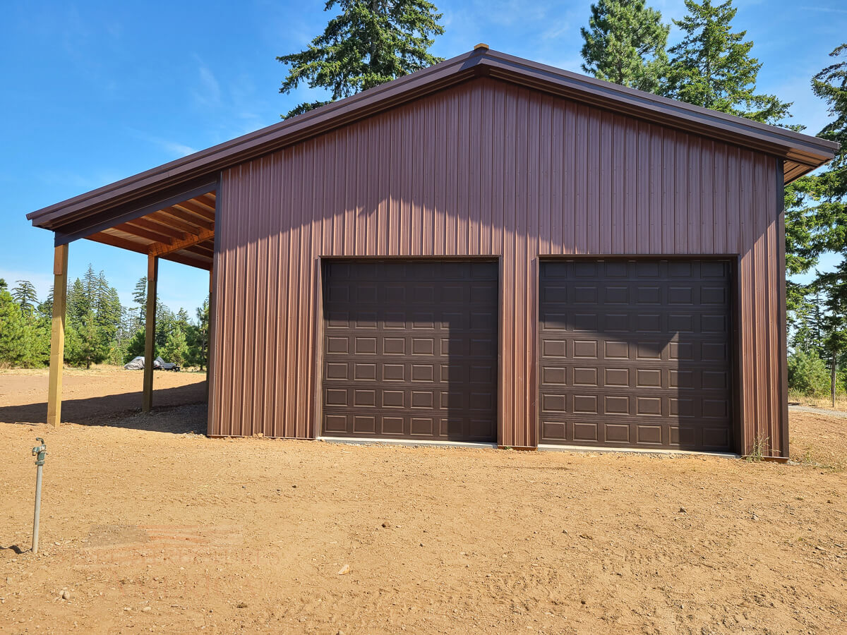 #11478 – 36x60x18 Shop with Loft – Lyle, WA| Steel Structures America