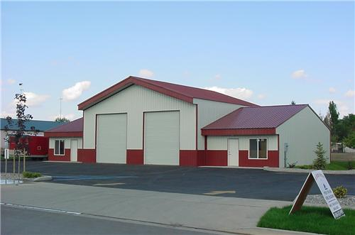 Commercial Rib Style Overhead Doors   Steel Structures America