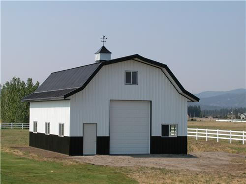 Gambrel Style Steel Building with Loft #2446 | Steel Structures America