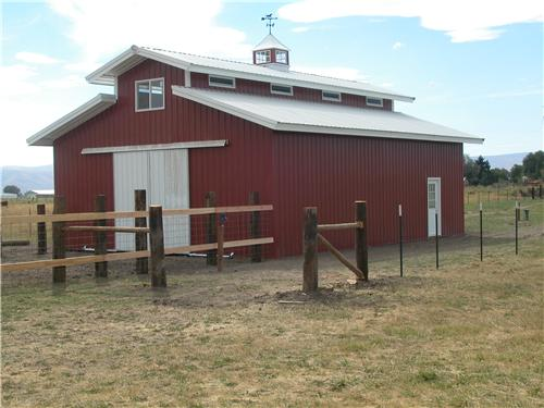 Horse Barn with Loft Storage #2617 | Steel Structures America