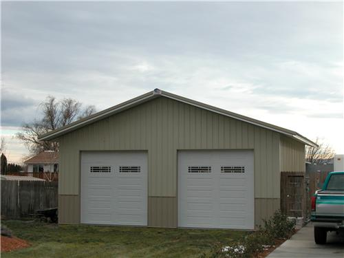 #2221 – Small Garage Shop Building – Pasco, WA| Steel Structures America
