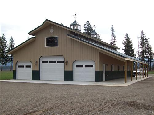#4984 – Post Frame Monitor Style Shop – Usk, WA | Steel Structures America