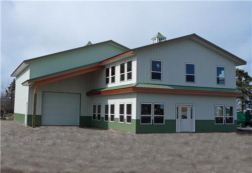 #4176 - 50x40x18 Office & Shop | Steel Structures America