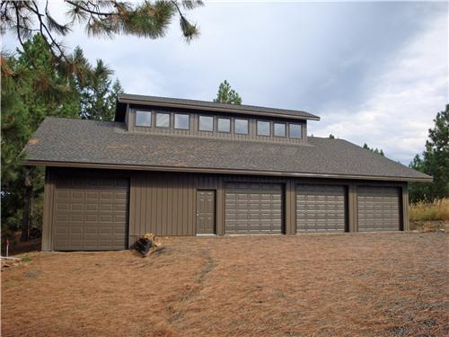 Custom Shop with Living Quarters #5283 - Mead, WA | Steel Structures America