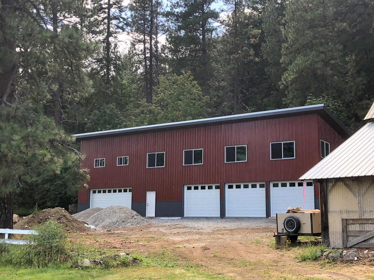 10818-Murray-26x72x18-shop-with-living-quarters-above-pole-building | Steel Structures America