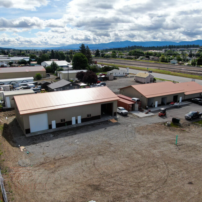 45x84x16 Multi - Tenant Building | Steel Structures America