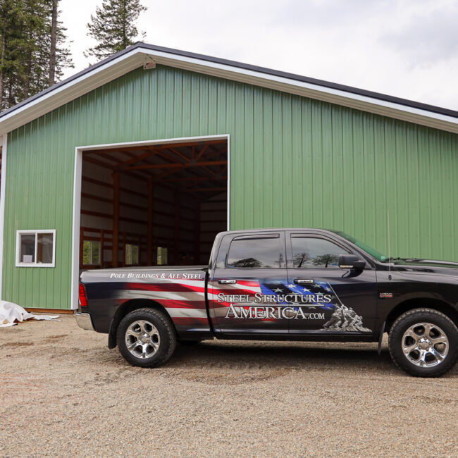 30x50x16 with Lean-To & Shed | Steel Structures America