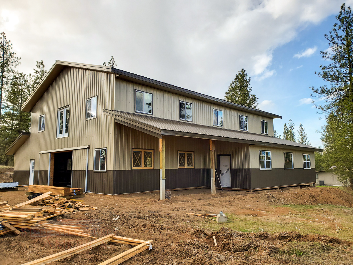 #11253 Hall – 36x60x22 Monitor Style Building Cheney, Washington | Steel Structures America