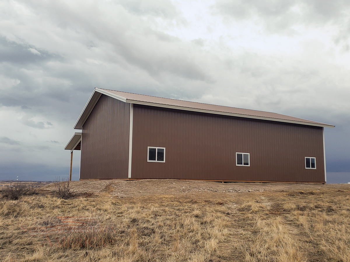#11313 Parks – 40x60x16 with 12×60 Lean-to – Fort Collins, Colorado | Steel Structures America
