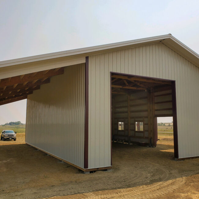 11342 - Pursley - 30x50x16 with Lean-To's | Steel Structures America