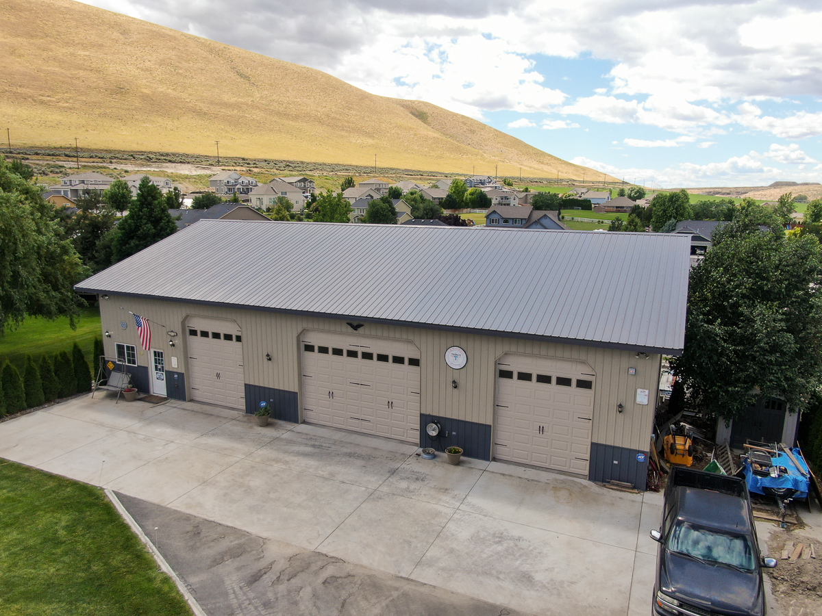 #8726 – Giant Shop – 45x72x14 – West Richland, WA | Steel Structures America