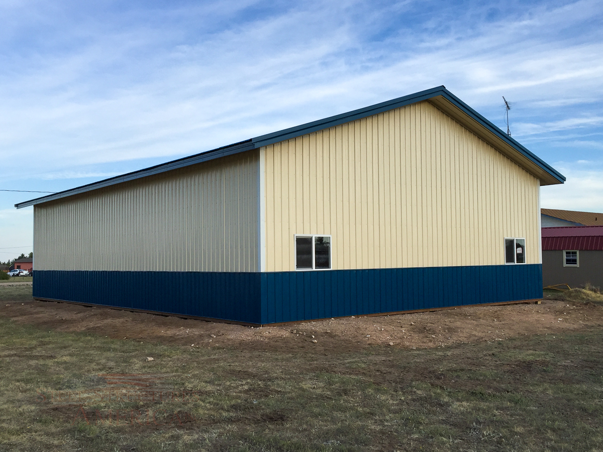 8878 blue and white pole building Cheyenne Wy-2