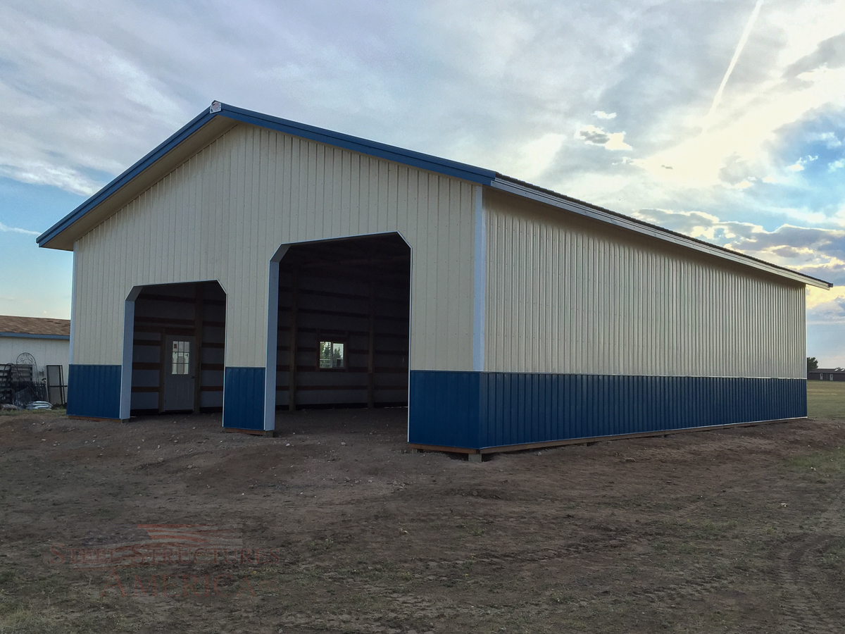 8878 blue and white pole building Cheyenne Wy-3
