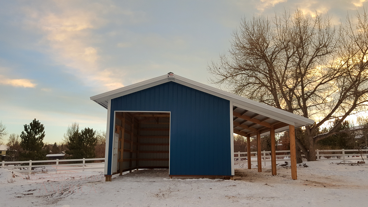 9179 – Open Range Colorado Horse barn with lean to-03