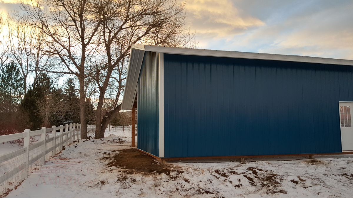 9179 – Open Range Colorado Horse barn with lean to-06