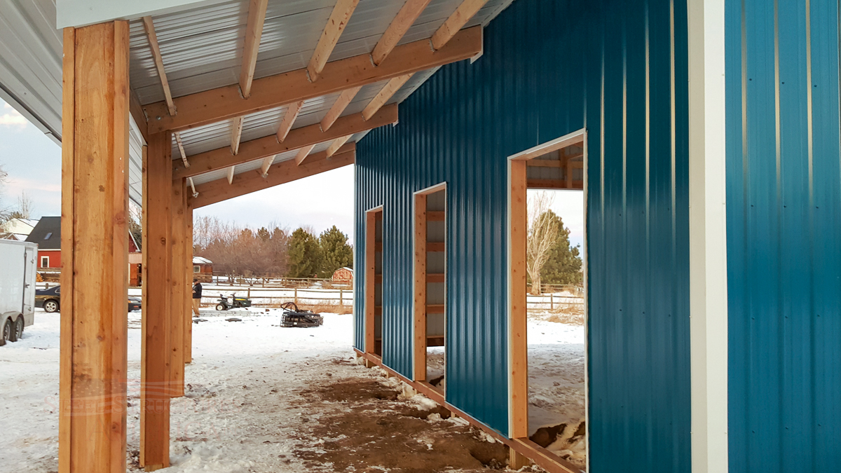 9179 – Open Range Colorado Horse barn with lean to-07