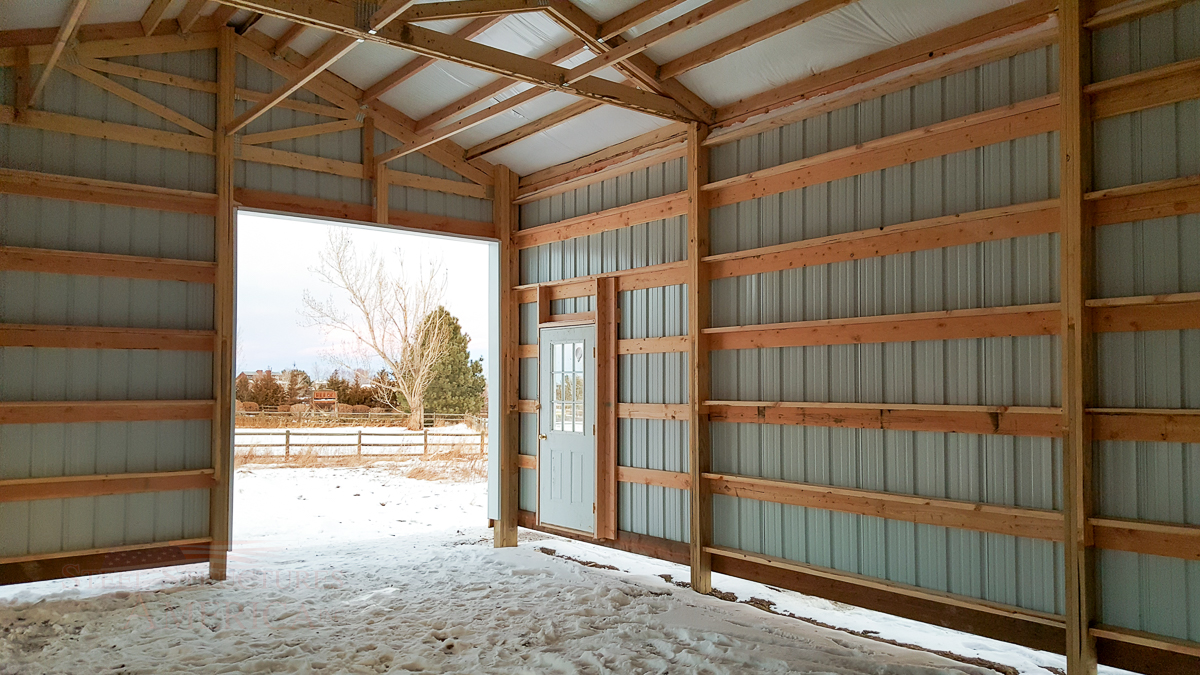 9179 – Open Range Colorado Horse barn with lean to-09